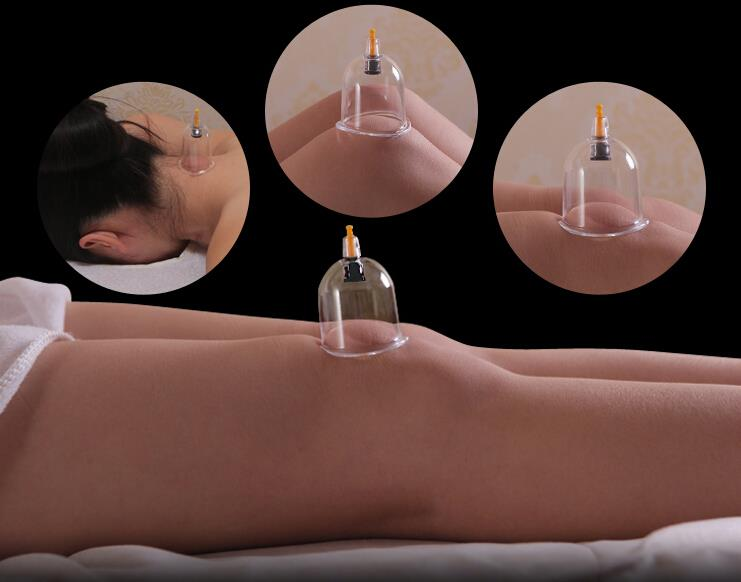 6 Pcs Pull Out Vacuum Chinese Acupuncture Medicine Magnet Therapy Cup
