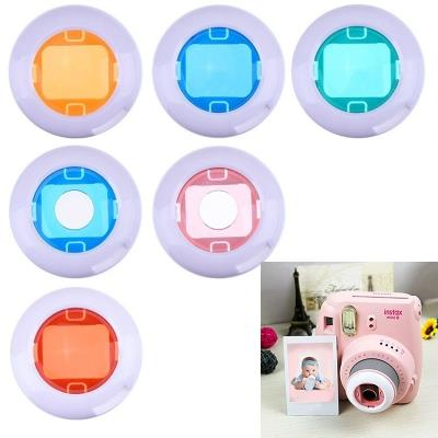 6 Pieces Color Close-Up Lens Color Filter for Fujifilm Instax Mini