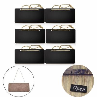 6 Pieces Rectangle Chalkboards Blackboard for Message Board Signs