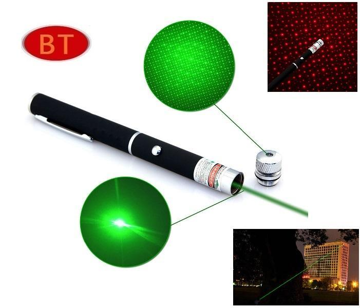 (6 sets) Star Cap High Power Laser Pointer Pen 2in1 5mw Powerful Laser