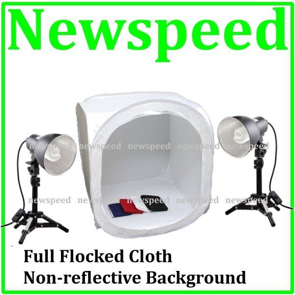 New 60cm Home Studio Light Tent Set with 30W Table Light 5500K
