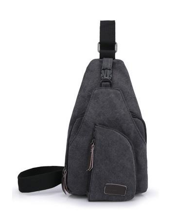 6192-Dark Grey Shoulder Messenger Ha (end 8/2/2018 10:15 AM)