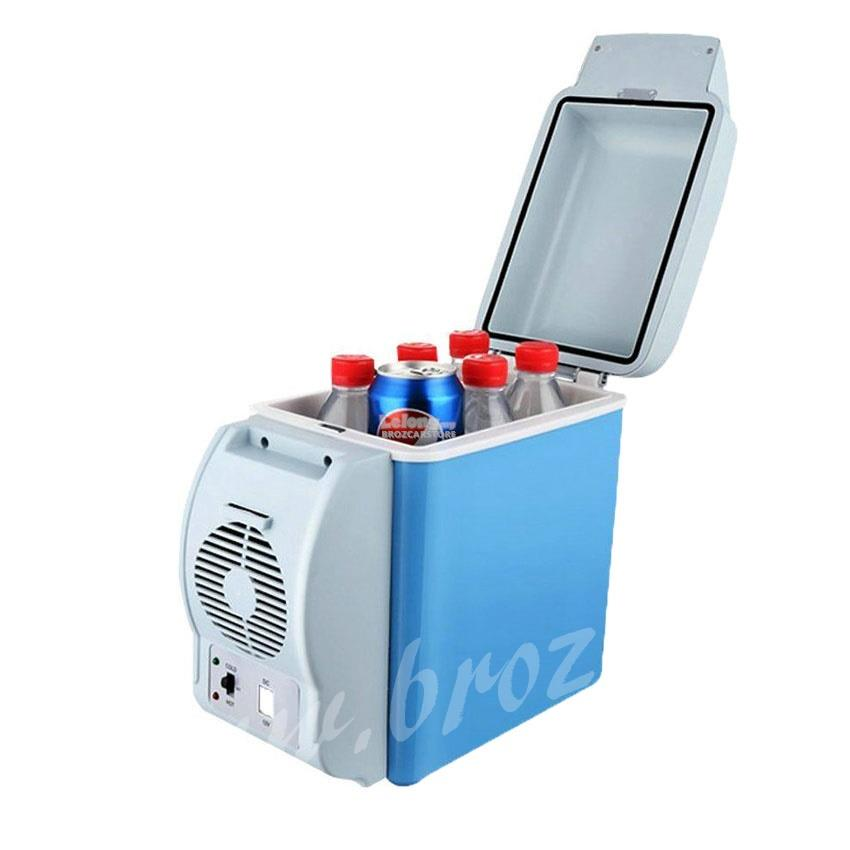 7.5L BLUE Car Mini Fridge 12V Plug in Cooler and Warmer Refrigerator
