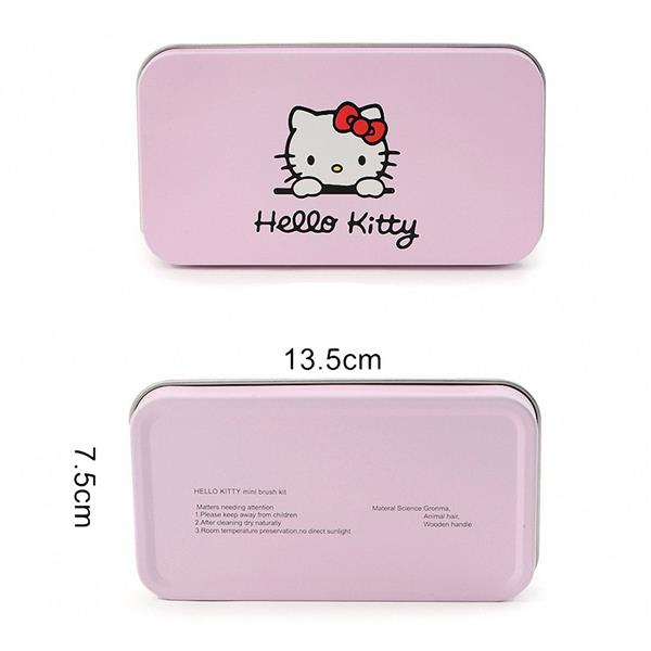 7 Pcs Professional Pink Hello Kitty Soft Makeup Brush Set with Box