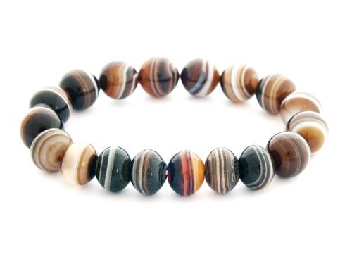 The 7 pieces of Medicine Dzi with Agate Bracelet