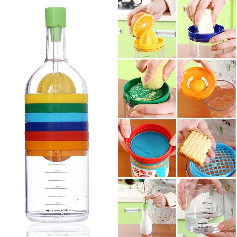 8 in 1 Fantastic Multi functional Kitchen Tools Kit Multi colored Bin
