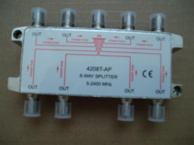 8-way splitter: 4208T-AP