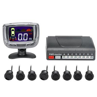 8 Ultrasonic Sensor Parking System - 2 Inch LCD Display, Audio Alert,