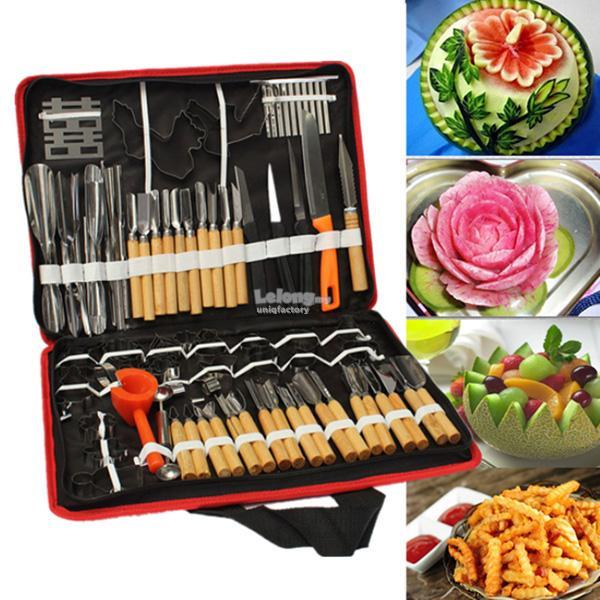 80Pcs Portable Vegetable Fruit Food Chef Burin Carving Chiseling Tool