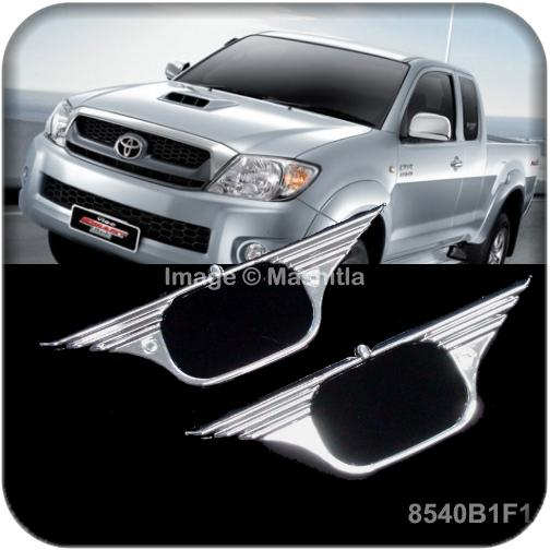 [8540] Toyota Vigo Hilux Chrome Side Signal Light Trim Cover Pickup