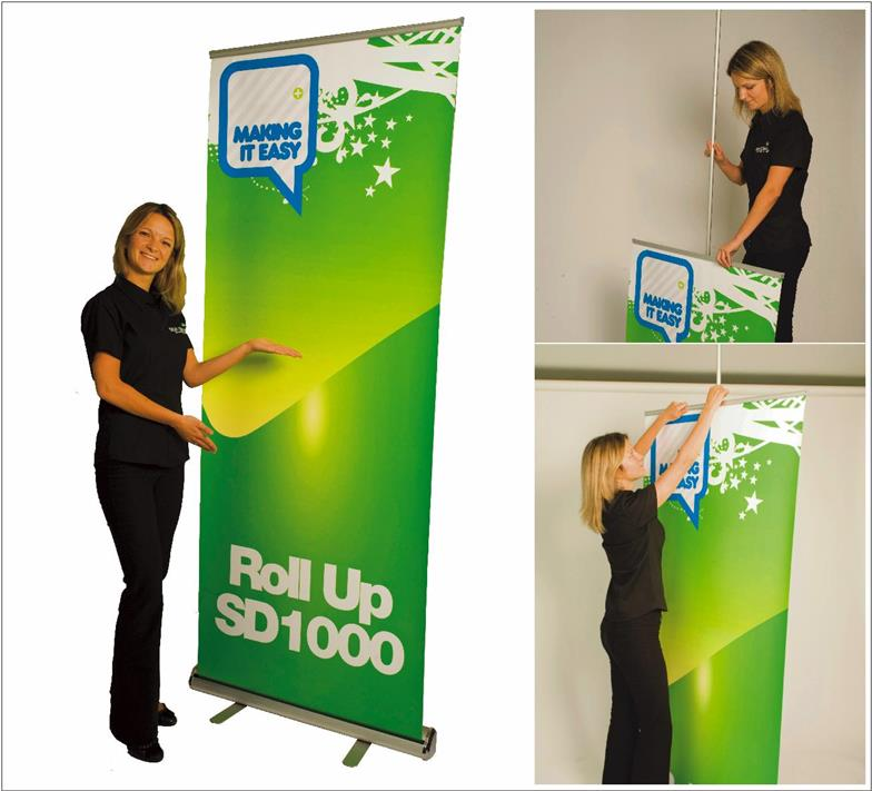 85x200cm Roll up Alluminium