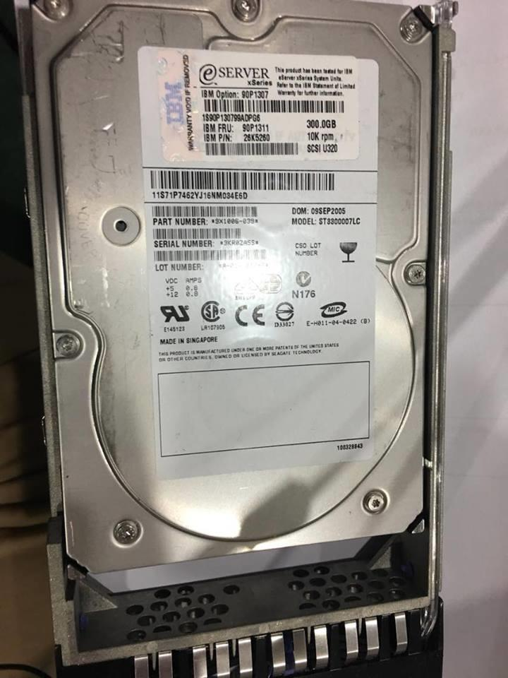 90P1311 IBM 300GB U320 SCSI HP 10K Server Hard Disk HDD