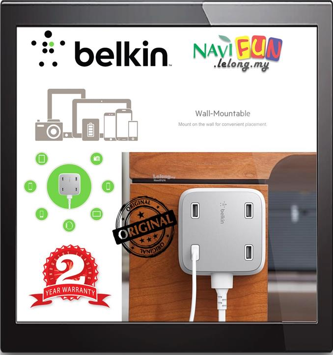 ★ Belkin Family RockStar™ 4-Port USB Charger [5.4A]