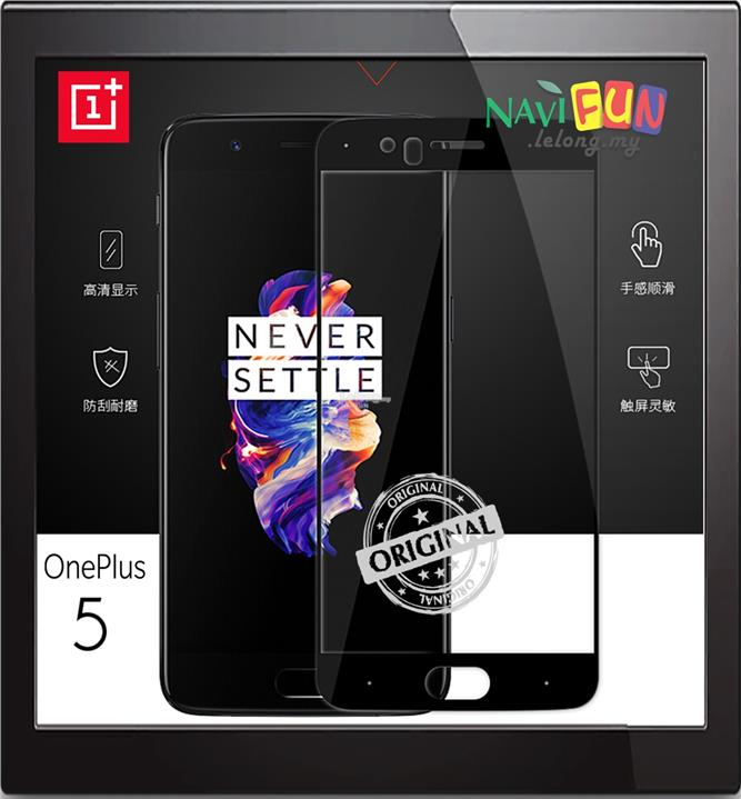 ★ OnePlus 5 / 1+5 / One Plus 5 3D Full 2.5D 9H Tempered Glass