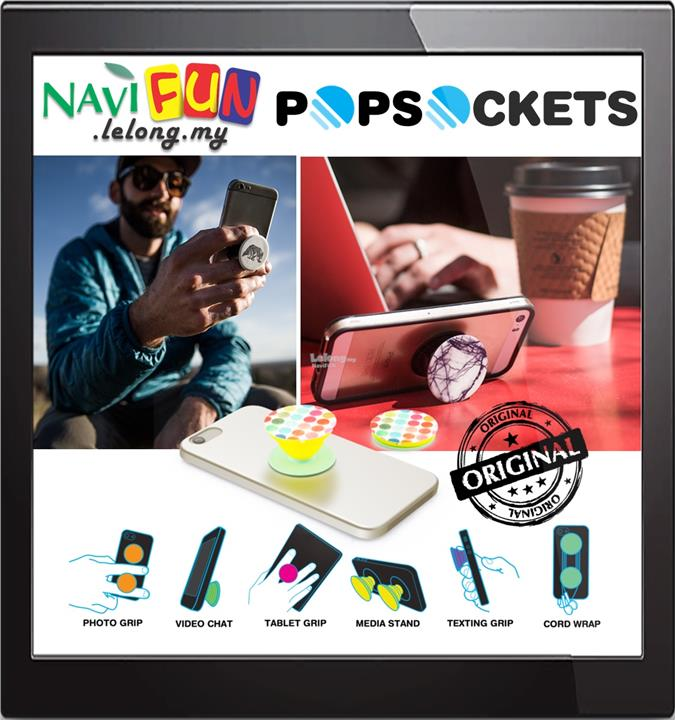 ★ PopSockets Expanding Stand & Grip for Smartphones and Tablets