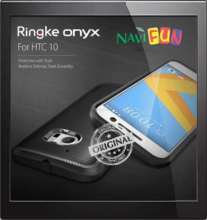 ★ Rearth Ringke Onyx for HTC 10 [TPU] [Resilient Strength]