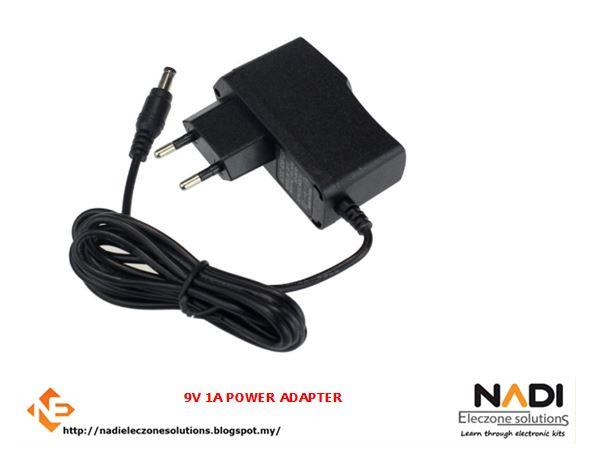 9V 1A POWER ADAPTER FOR ARDUINO - ARDUINO UNO COMPATIBLE