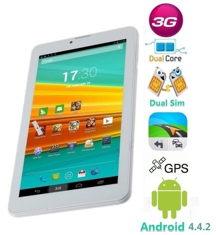 ACE A3000 Tab Cellular Dual Sim 7.0 Inches 3G Tablet Android 4.4