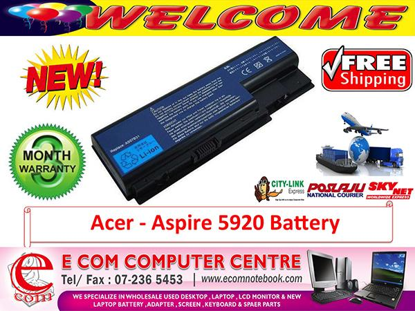 ACER ASPIRE 5920.5930.6920.6935.5235.7720.8730 LAPTOP BATTERY