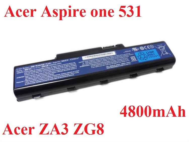 Acer Aspire One 531 SP1Timeline AS1810T AS1410 UM09B34 Battery 4800mAh