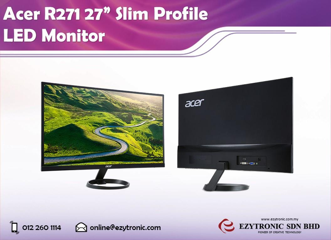 "Acer R271 27"" Slim Profile LED Monitor"
