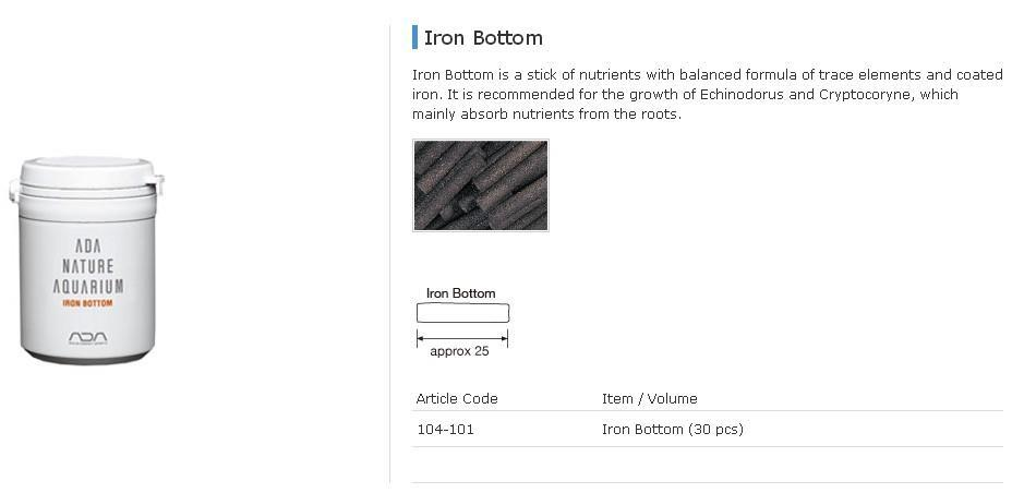 ADA - Substrate System - Iron Bottom 30pcs