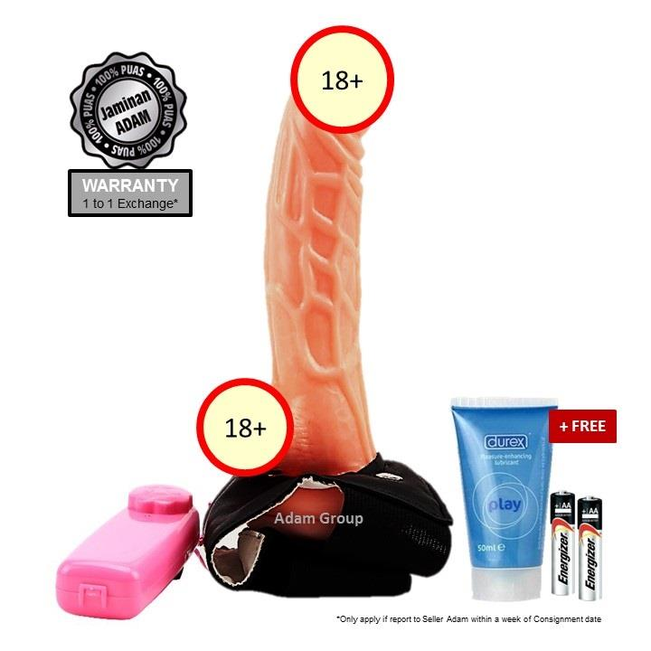 Adam Strap-on Dildos Dual Vibrate Waterproof