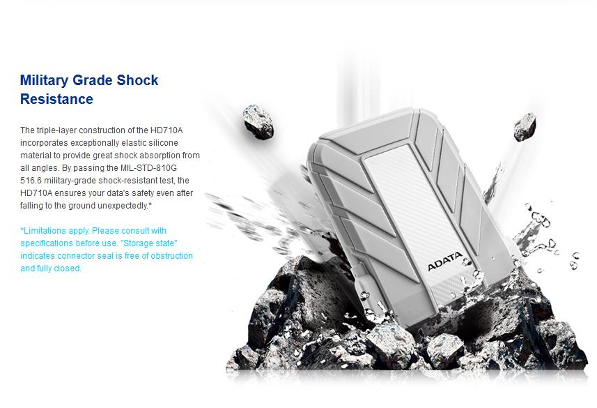 ADATA HD710A Waterproof / Dustproof / Shock-Resistant USB 3.0 Ext HDD