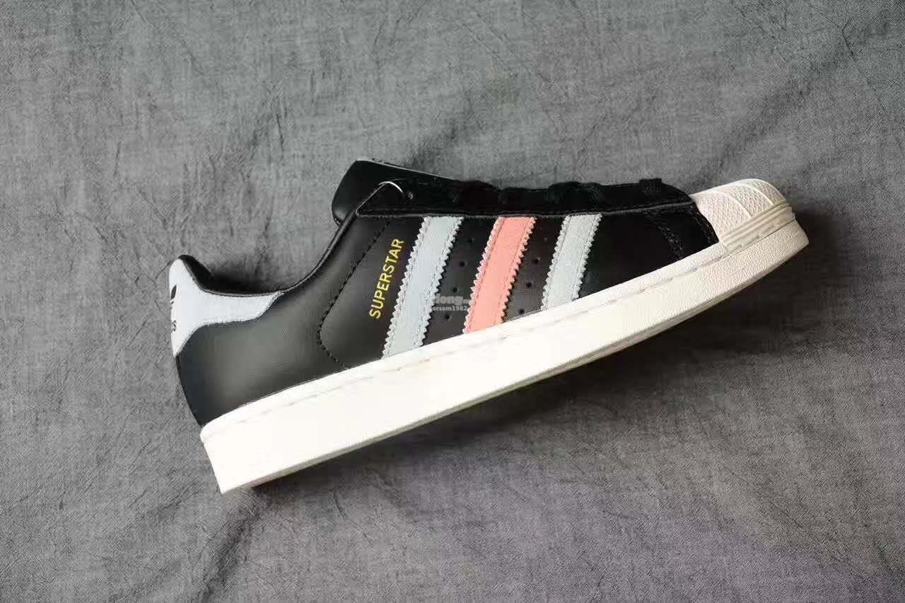 ... Supercolor PW Paint Art Black Adidas Superstar Core Black   Easy Blue    Haze Coral ... f9ab39ca6f946