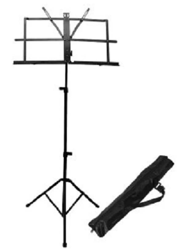 Adjustable Folding Tripod Music Stand With Carrying Bag