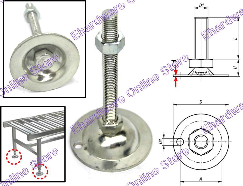 Adjustable Threaded Leveling Conveyor Feet (LF)