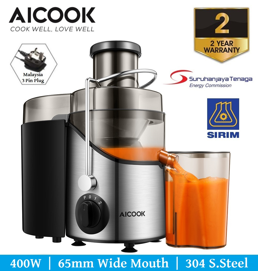 Aicook AMR526 65MM Wide Mouth BPA-Free 304 Stainless Steel Juicer