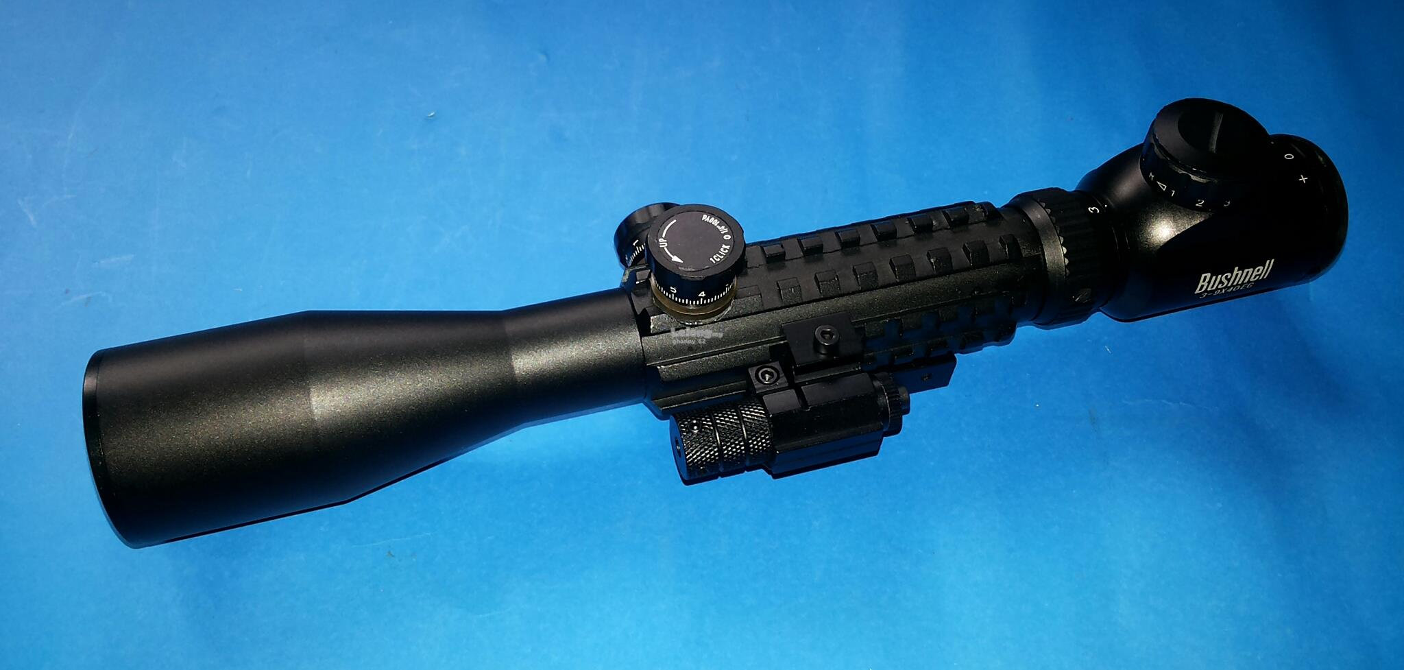 AIRSOFT OR PAINTBALL BUSHNELL C3-9X40MM EG RIS SCOPE cw LASER SIGHT