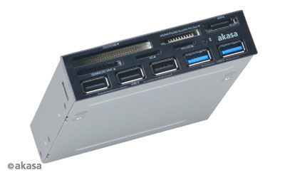 AKASA Tools Panel Casing 3.5' with USB3 & CARD READER (AK-ICR-16)