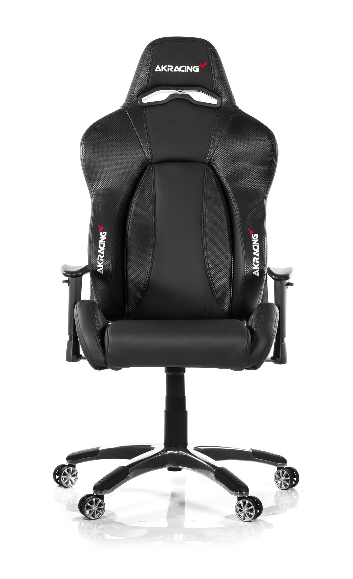 AKRACING PREMIUM STYLE GAMING CHAIR CARBON BLACK V2 PU LEATHER INSTOCK