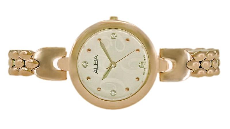 Alba Ladies Swarovski Crystal Watch VJ21-X091SRGRG