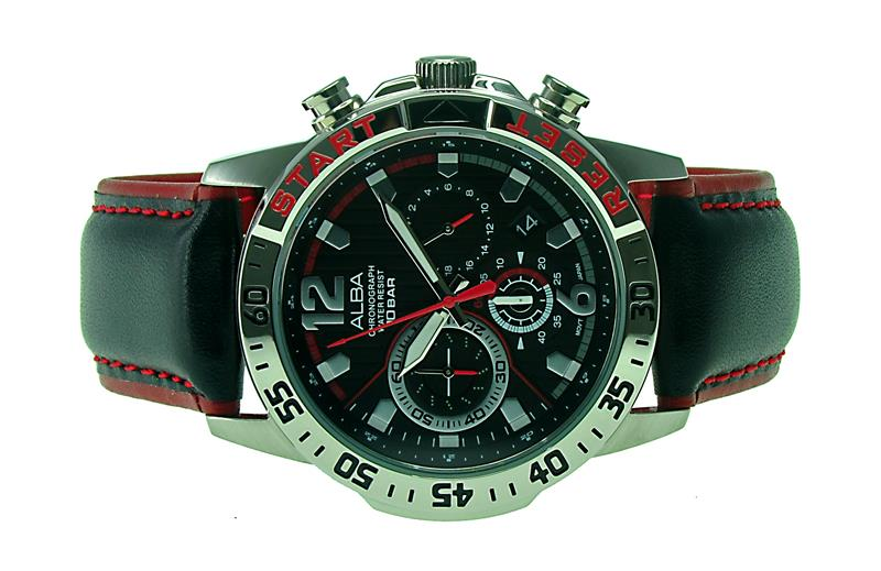 ALBA Men Chronograph Watch VD53-X228BRSL