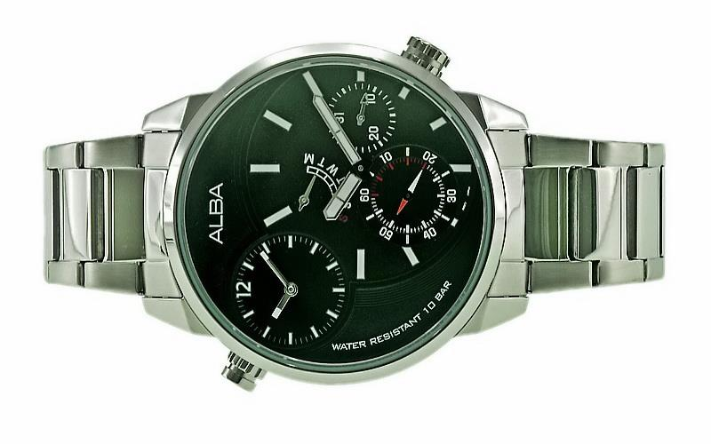 Alba Men Multi Function Dual Time Watch DM04-X001BSS