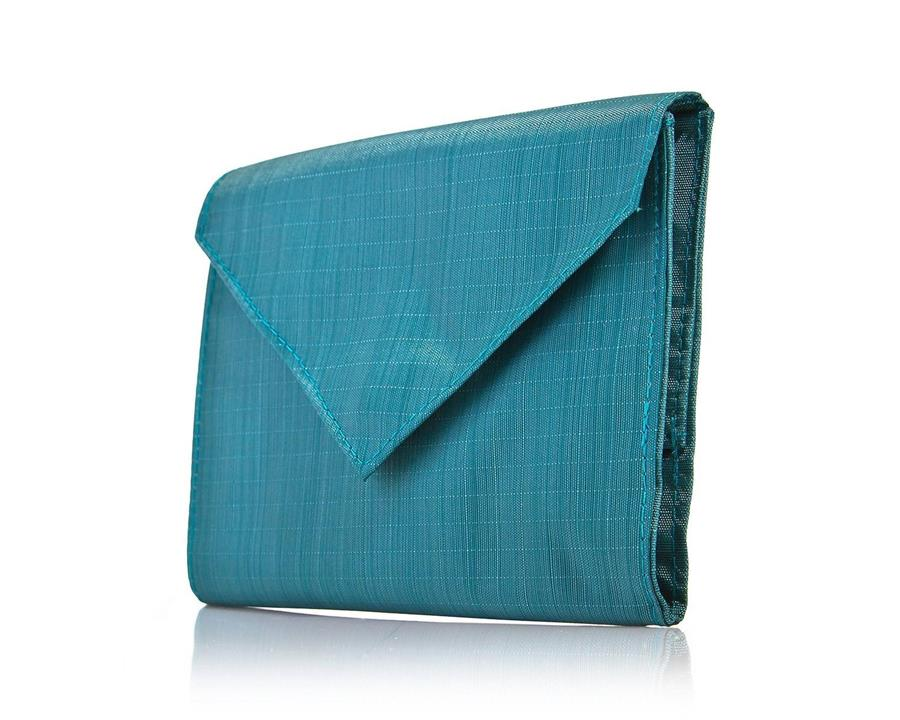 ALLETT SOFTTECH NYLON WOMENS ORIGINAL WALLET - BERYL BLUE