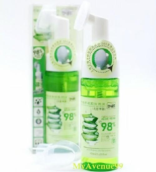Aloe Vera 98% 5-In-1 Pobling Cleansing Foam with Silicon Brush (150ml)