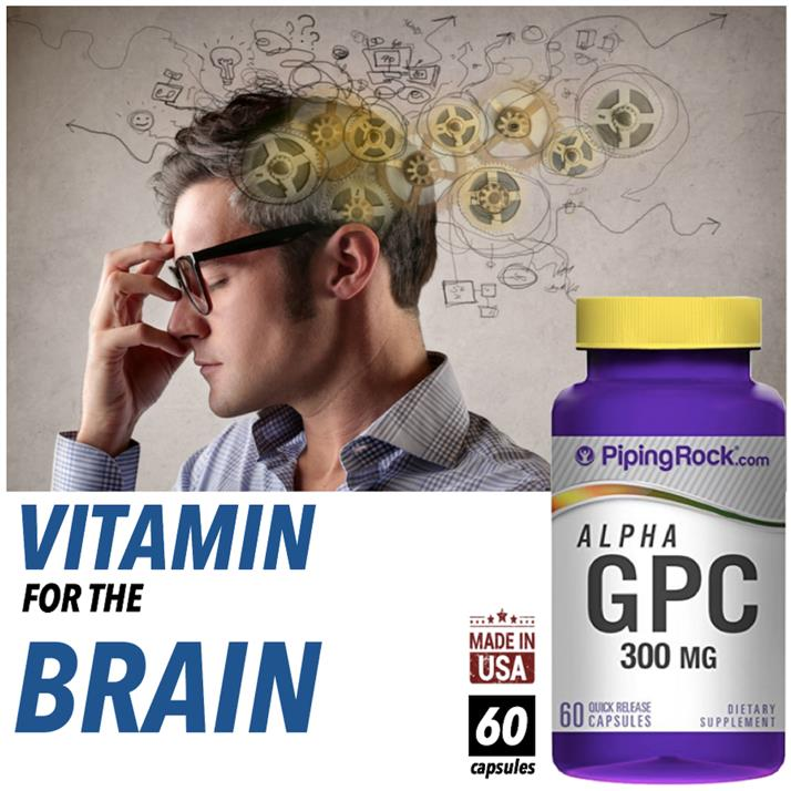 Alpha GPC 300mg, Alpha Glycerol Phosphoryl Choline (Brain Health)