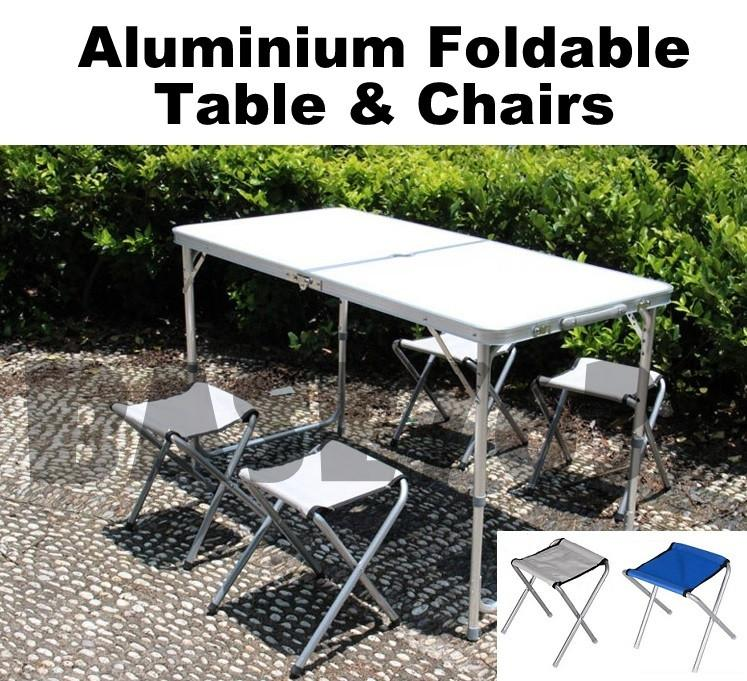 New  Aluminium Foldable Folding Fold Table Outdoor Camping Picnic