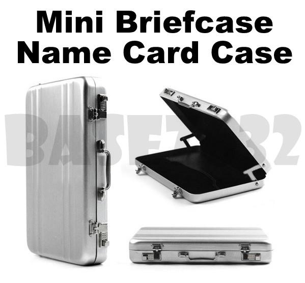 Aluminium  Mini Briefcase Business Name Card Credit Card Holder Case