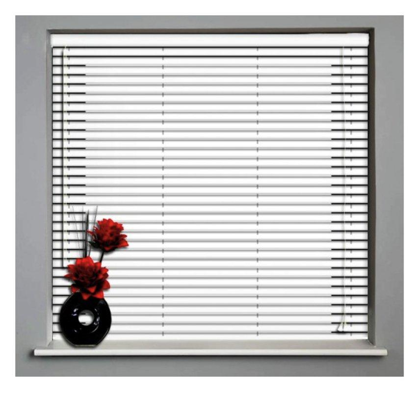 Aluminium Venetian Window Blinds WHITE 48' X 48'