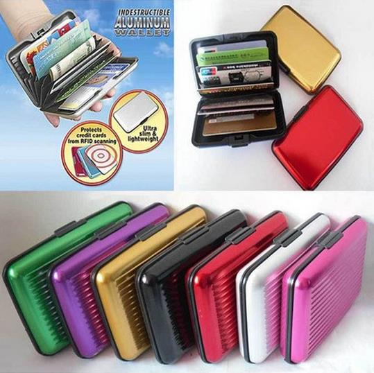 ALUMINIUM WALLET credit bank card ID holder hard case variety color