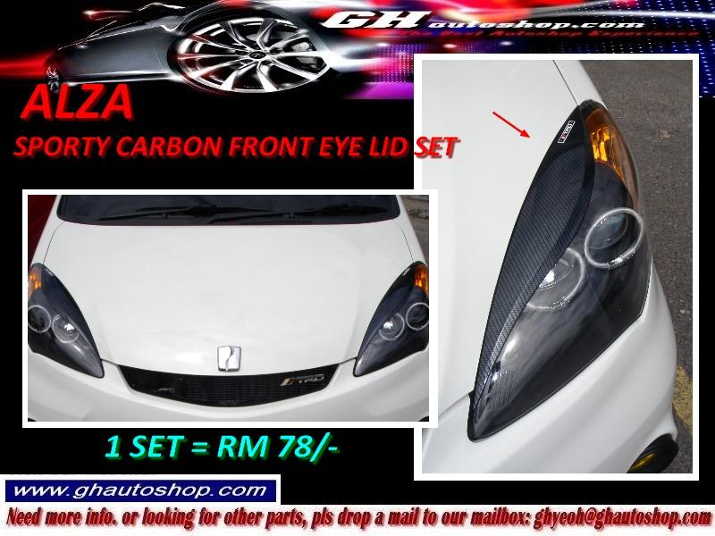 ALZA / NEW ALZA SPORTY CARBON FRONT EYE LIDS SET