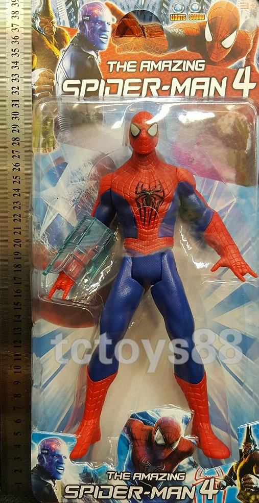 The Amazing Spiderman Figure cw lights & battle sound. 25cm. New.!!!