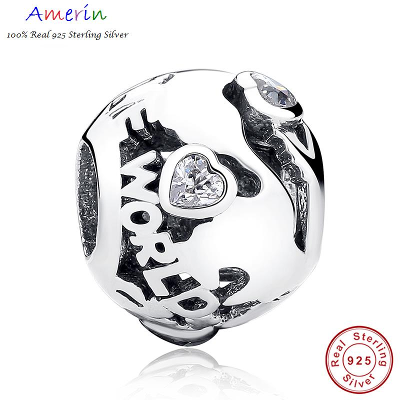 AMERIN 100% Real 925 Sterling Silver Ball Beads & Charm BME Bracelet