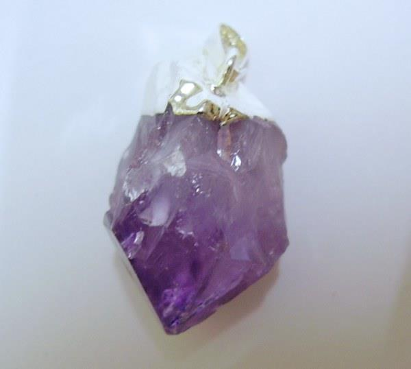 AMP16 Genuine Amethyst Pendant Point Druze Crystal Wisdom 9.26g