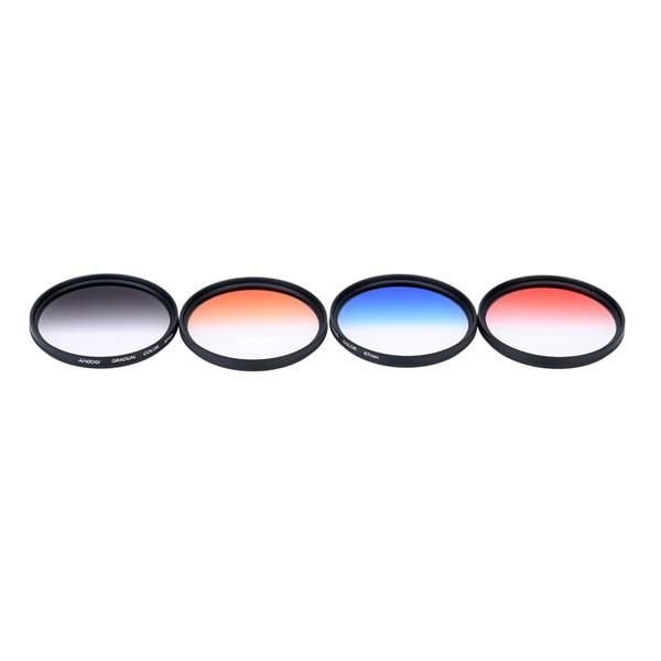 Andoer Professional 67mm GND Graduated Filter Set GND4(0.6) Gray Blue